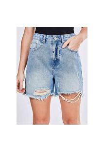 Bermuda Em Jeans Destroyed