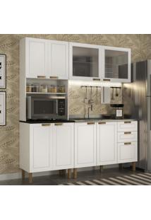 Cozinha Completa 3 Peã§As Americana Multimã³Veis 5905 Branco - Branco/Incolor - Dafiti