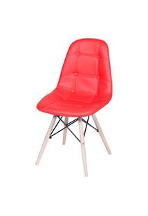 Cadeira Eames Eifeel Botone Or Design Vermelho