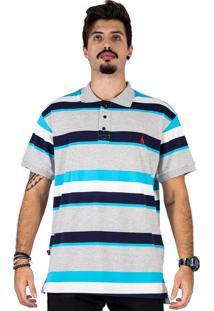Camisa Polo Simple Skateboard Azul