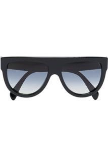 Celine Eyewear Óculos De Sol Aviador - Preto