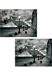 Jogo Americano Colours Creative Photo Decor - Museu Do Louvre Em Paris Na França - 2 Peças