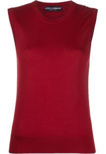 Dolce & Gabbana Sleeveless Tank Top - Vermelho