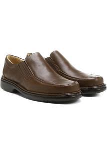 Sapato Conforto Couro Walkabout Pro - Masculino-Marrom Escuro