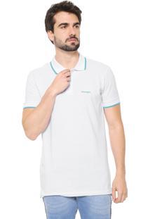 Camisa Polo Wrangler Reta Logo Branca