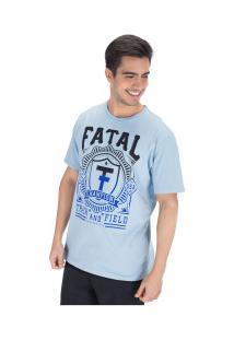 Camiseta Fatal Estampada 20284 - Masculina - Azul Claro