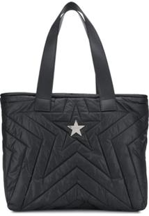 Stella Mccartney Logo Tote Bag - Preto