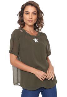 Blusa Ellus Mirror Star Verde
