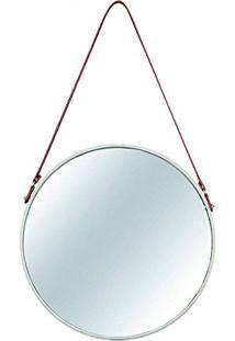 Espelho Em Metal, Moas, Off White, 66.5 X 3.5 X 40.5 Cm