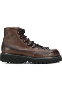 Premiata Ankle Boot Com Cadarço - Marrom