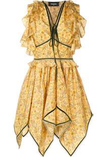 Dsquared2 Vestido Assimétrico - Amarelo