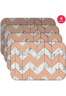 Jogo Americano Love Decor Wevans Marble Geometric Kit Com 4 Pçs