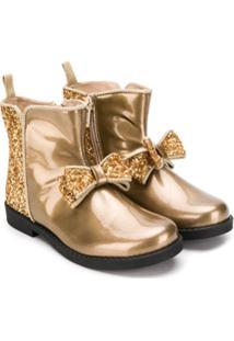 Florens Ankle Boot Com Brilho - Dourado