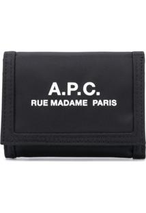 A.P.C. Carteira Com Estampa De Logo - Preto