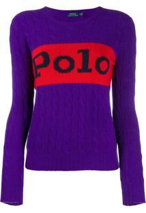 Polo Ralph Lauren Suéter De Tricô - Roxo