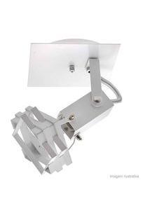 Spot Cubic Branco De Alumínio Para 1 Lâmpada E27 60W Thema