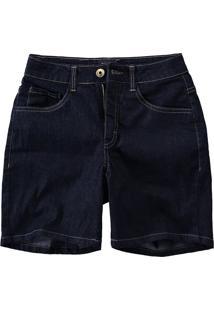 Bermuda Jeans Comfort Cintura Média Malwee Azul Escuro - 36