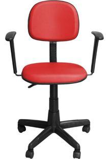 Cadeira Pethiflex Cs-02Bt Couro Vermelho