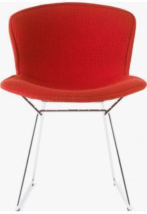 Cadeira Bertoia Revestida - Estrutura Preta Tecido Sintético Azul Royal Dt 01022805