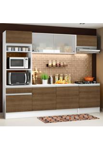 Cozinha Completa Madesa Topazio Com Armário, Balcão E Tampo Branco