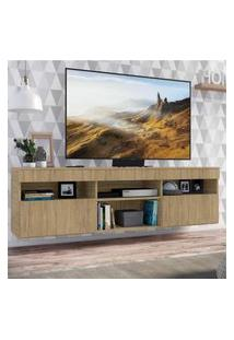 "Rack Tv 65"" Suspenso Com 2 Portas Paris Multimóveis Rustic"
