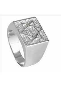 Anel Estrela De Davi Florenzza Em Prata 950 Unissex - Unissex-Prata
