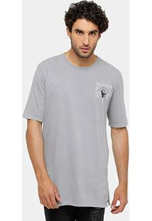 Camiseta Triton Bolso Estampado Alongada Masculina - Masculino