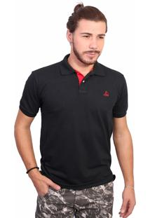 Camisa Polo Clube Náutico Slim Preto