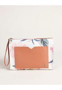 Necessaire Bolso Frontal - Floral U