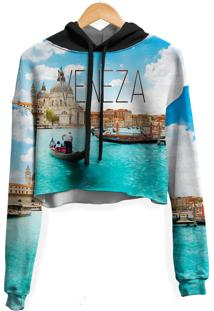 Blusa Cropped Moletom Feminina Over Fame Veneza Md01