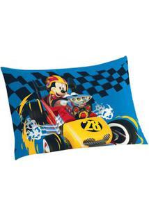 Lepper Fronha Mickeyâ® Aventura Sobre Rodas Azul & Amarela 70X50Cm
