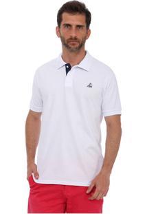 Camisa Polo Clube Náutico Slim Masculino - Masculino-Branco