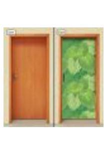 Adesivo Decorativo De Porta - Folhas - 1348Cnpt
