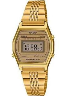 Relógio Casio Vintage La690Wga-9Df Feminino - Feminino-Dourado