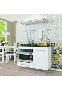Balcão De Cozinha Para Cooktop 1 Gaveta Indekes Branco