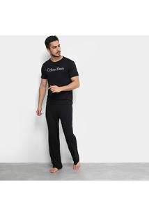 Pijama Calvin Klein Longo De Visco Masculino - Masculino