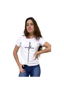 Camiseta Feminina Cellos Fé Premium Branco