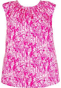 Marni Graphic Flower Print Sleeveless Top - Rosa