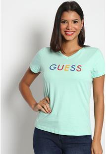 """Blusa """"Guessâ®- Verde ÁGua & Vermelha- Guessguess"""
