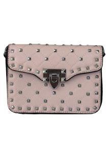 Bolsa Bag Dreams Tacia Com Spikes Rosa