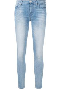 7 For All Mankind Skinny Jeans - Azul