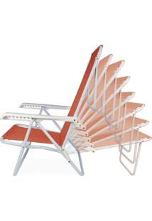 Cadeira Reclinável Aço 8 Posições Coral Mor