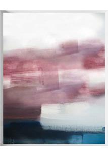Quadro Decorativo Abstrato- Rosa Escuro & Azul Marinho