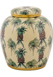 Vaso Decorativo De Porcelana Havaí M - Linha Pineapple