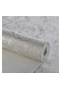Papel De Parede Importado Lavavel Texturizado Ramos Cinza