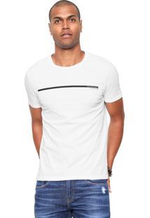 Camiseta Calvin Klein Jeans Ckj Estampada Branca