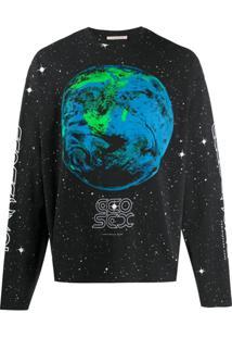 Christopher Kane Camiseta Mangas Longas Ecosexual - Preto