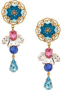 Dolce & Gabbana Par De Brincos Com Aplicação - Estampado