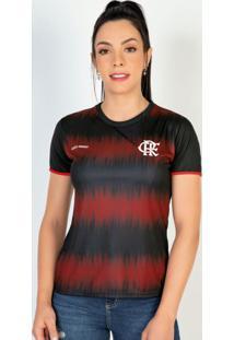 Camiseta Flamengo Feminina Part Preta