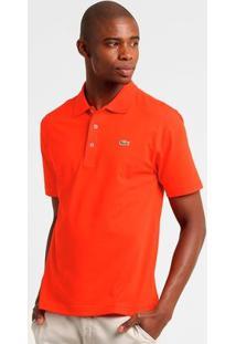 Camisa Polo Lacoste Super Light Masculina - Masculino-Laranja